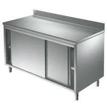 Arbeitstisch 0,6 x 0,6 m verschweißt Edelstahltisch Gastro Edelstahl Schrank