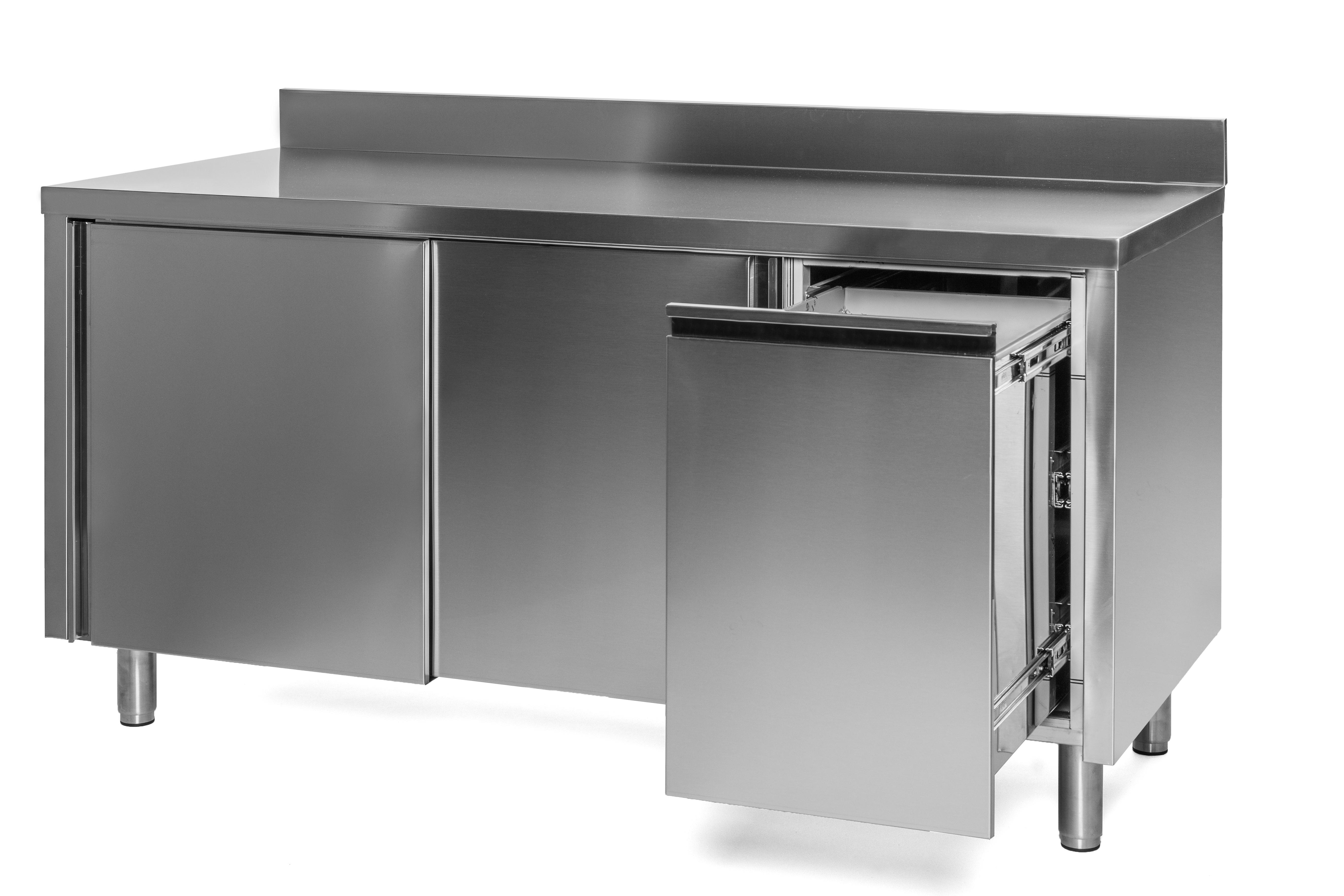 Unterkategorie - Arbeitsschrank mit Abfallbehälter - 0,7 m Aufkantung