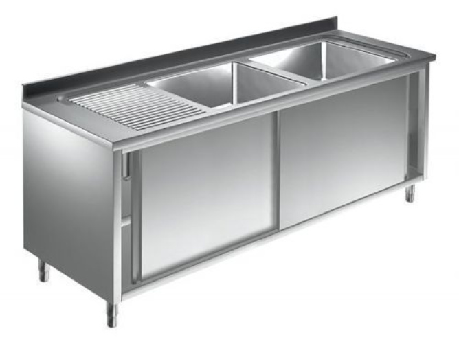 Unterkategorie - Spülschrank 2 Becken - 0,7 m