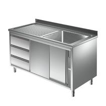 Unterkategorie - Spülschrank 1 Becken mit Schubladen - 0,7 m