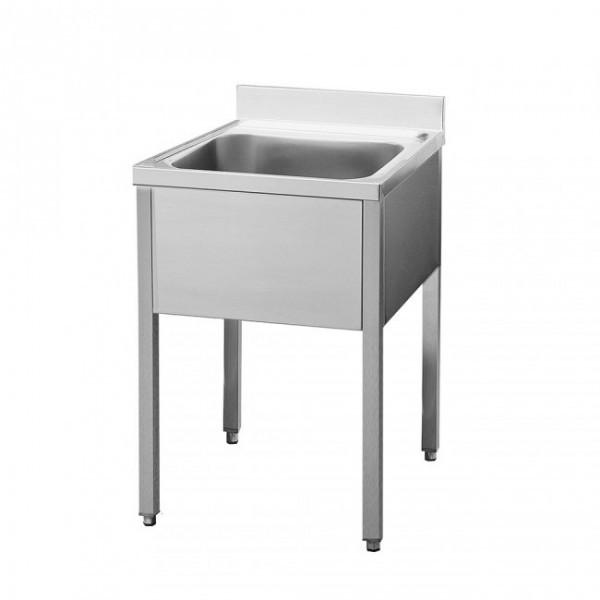 Spültisch 1 Becken mittig - 0,7 x 0,7 m ohne Grundboden