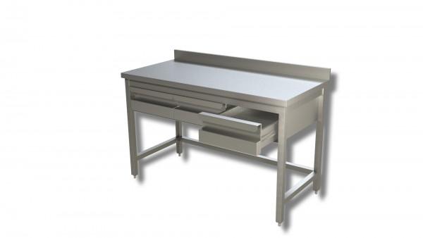 Arbeitstisch 1,8 x 0,6 m - Schubladen Aufkantung