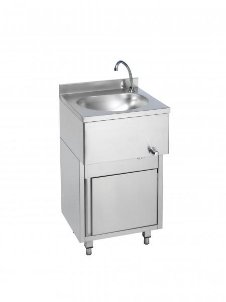 Handwaschbecken mit Unterschrank und Kniebedienung