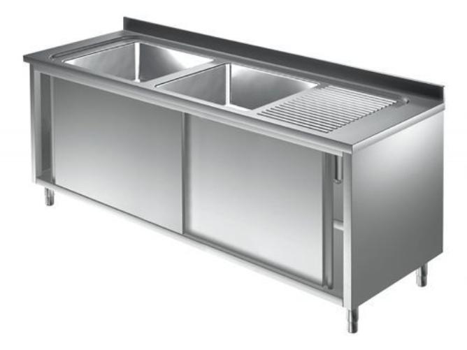 Unterkategorie - Spülschrank 2 Becken - 0,6 m