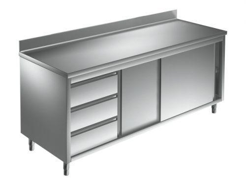 Unterkategorie - Arbeitsschrank 3 Schubladen - 0,6 m Aufkantung