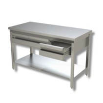 Arbeitstisch 1,2 x 0,7 m - Schubladen Grundboden