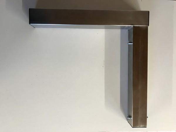 Wandregal-Edelstahl-Konsole 30cm