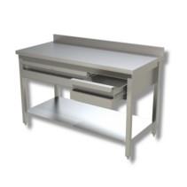 Arbeitstisch 1,5 x 0,7 m - Schubladen Grundboden Aufkantung